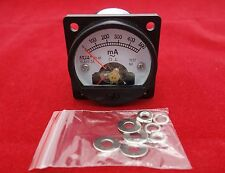 1PC AC 0-500MA Analog Ammeter Panel AMP Current Meter SO45 Cutout 45mm