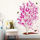 Large Pink Tree Birds Wall Sticker Removable Mural Vinyl Art Decal Home Decor
