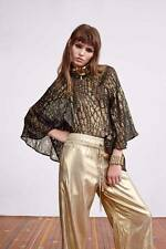 "Brand New   SASS & BIDE   ""Applause Now""   Wide Leg Gold Pants  - Size 14 -"