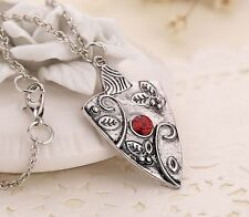 Fashion Women Antique Silver Vampire Diaries  Chain Pendant Necklace Jewelry