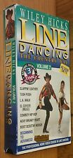 LINE DANCING THE COUNTRY WAY ~ WILEY HICK'S ~ VOLUME 2 ~ VHS VIDEO TAPE ~ ON TV!