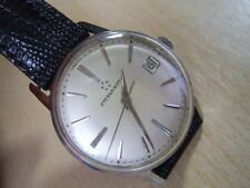 VINTAGE 1960'S SS ETERNA-MATIC DATE CAL 1420 - 6 X SIGNED                  #6140