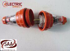 3 Pin Industrial Weatherproof PLUG & Socket  15A 15 amp IP66