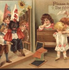 RARE..! SCHOOL BOYS CARRY BLACK DUNCE CHILD,ELLEN ANDREWS,FAWKES,TUCK POSTCARD