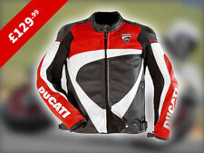 Ducati Corse Biker Leather Jacket  Red/White/Black *** XMAS OFFER ***