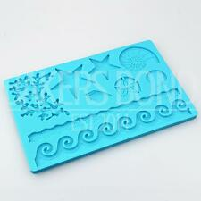 Summers Ocean Nature Multi Mat Silicone Mould Cake Decoration Sugarcraft Fondant