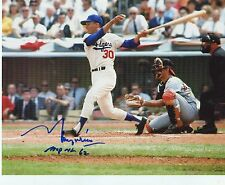MAURY  WILLS  MVP  NL  62Te y  LOS ANGELES   DODGERS   SIGNED AUTOGRAPHED 8X10