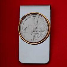 2014 Florida Everglades National Park BU UNC Quarter Two Toned Coin Money Clip