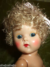 NEW BLONDE O'MBRE COLOR POODLE CUT CURLY COLOR WIG FOR GINNY MUFFIE NANCY ANN