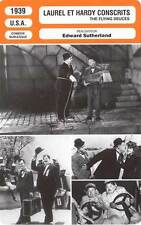 FICHE CINEMA : LAUREL ET HARDY CONSCRITS - Laurel,Hardy 1939 The Flying Deuces