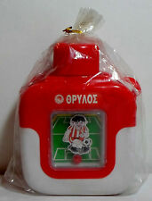 OLYMPIAKOS OSFP VTG 80's PLASTIC 6.5'' THERMOS w/ MOVING SOCCER FIGURE SEALED