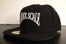 BLACK SCALE X NEW ERA SCRIPT FRONT LOGO MENS HAT FITTED HAT SIZE 7 1/8 56.8 cm