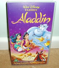 Disneys Aladdin VHS video tape