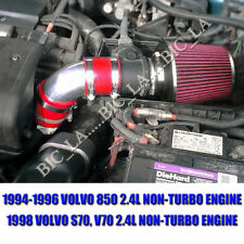 RED 1994-1996 1998 VOLVO 850 S70 V70 2.4 2.4L NON-TURBO AIR INTAKE KIT SYSTEMS