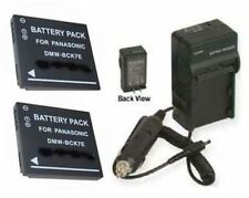 2 Batteries +Charger for Panasonic DMC-FH25 FH25A FH25K
