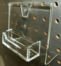 Pegboard Clear Plastic Business Card Holder Display