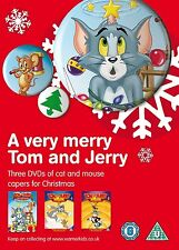 A VERY MERRY TOM & JERRY - CHRISTMAS CAT & MOUSE CAPERS - NEW 3 DVD BOX SET