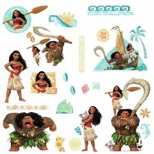 28 DISNEY MOANA & MAUI Wall Decals Peel & Stick Stickers Girls Room Decorations
