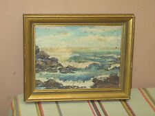 Antique Oil on Board Seascape Signed by William ....??