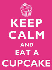 KEEP CALM AND EAT A  CUPCAKE KITCHEN BAKING METAL TIN SIGN 100's MORE LISTED 7