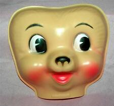 VTG 1960'S CELLULOID CRAFT DOLL MAKING MASK FACE - PUPPY,  BUNNY, BEAR, OTHER