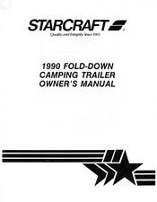 1990 Starcraft Folding Camping Popup Trailer Owners Manual