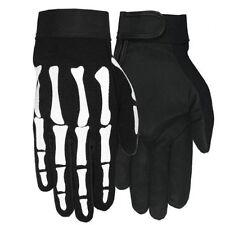 Hot Leathers Skeleton Mechanic Gloves (Black, Large)