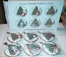 J Wecker Frisch SET 6 History of CHRISTMAS TREE Collector Ornaments New in Box