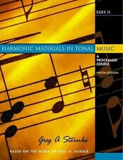Harmonic Materials in Tonal Music: A Programed Course, Part II (9th Edition)