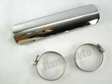 Motocycle Straight Exhaust Muffler Hest Shield Cover Heel Guard Custom Chopper