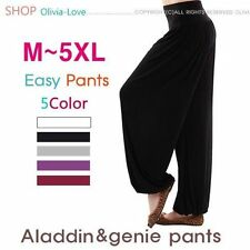 Women's 3XL PLUS SIZE Cotton Spandex Bella Yoga Pilates Workout Pants Black