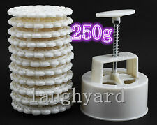 Christmas gift Big Round Shape Pastry/ Moon Cake Mold 250g 1 Barrel 11 Stamps