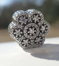 AUTHENTIC PANDORA CHARM CRYSTALLIZED FLORAL 79199CZ