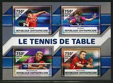 CENTRAL AFRICA 2016 TABLE TENNIS SHEET  MINT NH
