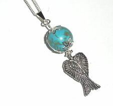 ANGEL Wings Healing TURQUOISE Pendant Necklace