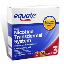 Equate Nicotine Transdermal System Step 3 Clear Patch 7mg 14 Patches SEALED