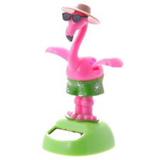 FLAMINGO SOLAR DANCING PAL BOBBLE HEAD DESK TOY OFFICE FUNKY FUN STATUE FIGURE