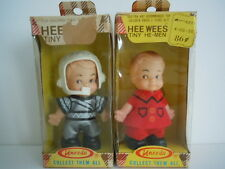 "UNEEDA 1974 KMART"" HEE WEES TINY HE-MEN "" BOYS PEE WEE: FOOTBALL PLAYER,FIRE MAN"