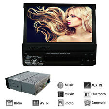 "Multi-function 7"" LCD Touchscreen Flip Out DVD CD USB MP3 MP5 Car RC AUX Stereo"