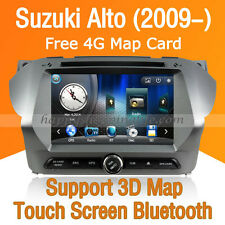 Car Stereo DVD Player GPS Navigation Bluetooth Radio for Suzuki Alto 2009-2014