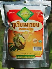 DURIAN CHIPS  - DELICIOUS THAI FRUIT SNACK - OTOP NATURAL - FREE INT POSTAGE