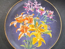 Anna Perenna 1983 Flowers of Count Bernadotte LILY  Ltd Ed Plate