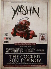 YASHIN We Created A Monster Gig Show Tour POSTER promo print cd