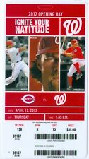 2012 Nationals vs Reds Ticket: Opening Day Ryan Zimmerman scores wild pitch 10th