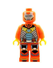 Custom Minifigure Ironman Orange Printed on LEGO Parts