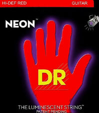 DR NRA-12 Neon RED Acoustic Guitar Strings 12-54