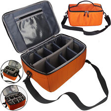 New Large Orange DSLR SLR Camera Insert Padded Parition Dividers Lens Bag Case
