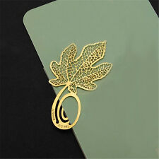 1 Pc Maple Leaf Metal Bookmark Paper Clip Practical Reading Accessories for Kids