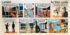 Latigo by Stan Lynde - Western comic - scarce color Sunday page - Sept. 9, 1979