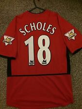 MANCHESTER UNITED 2002/04 HOME SHIRT ADULTS(M) 18 SCHOLES